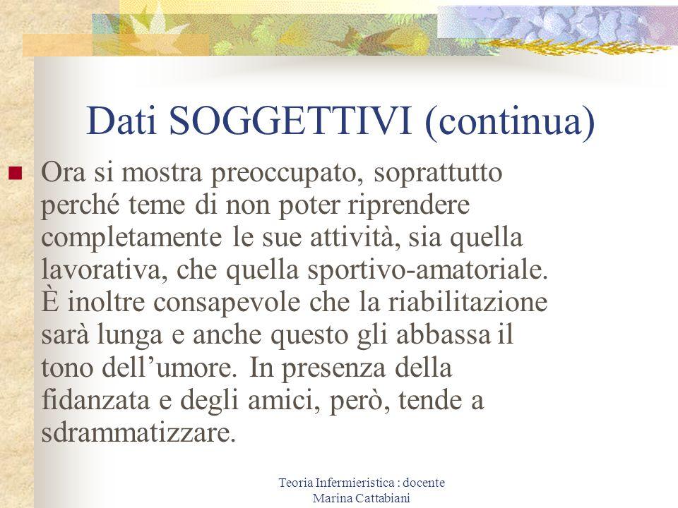 Dati SOGGETTIVI (continua)