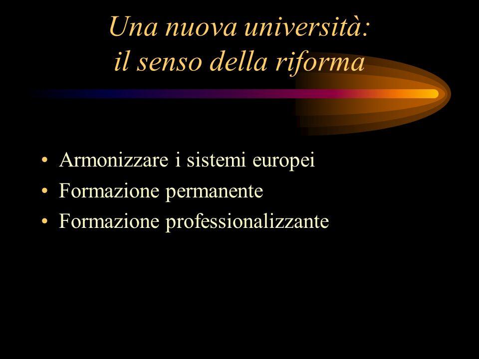 Una nuova università: il senso della riforma