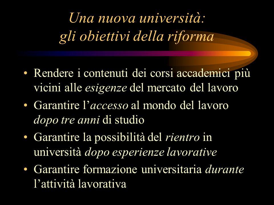 Una nuova università: gli obiettivi della riforma