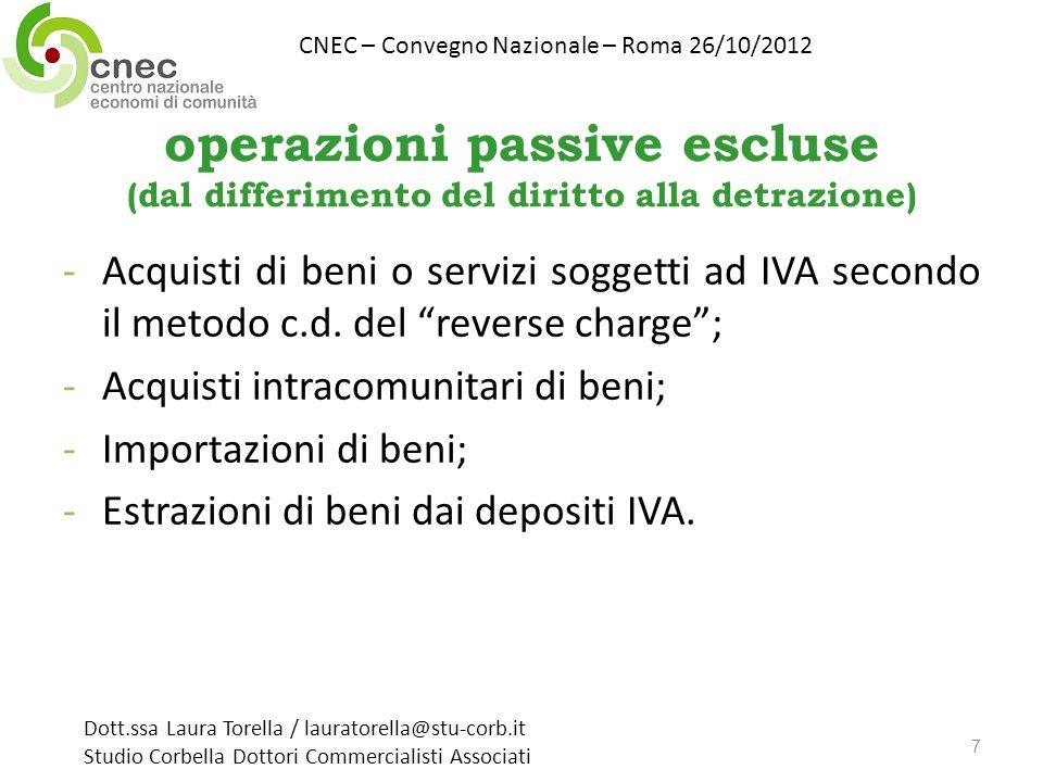 CNEC – Convegno Nazionale – Roma 26/10/2012