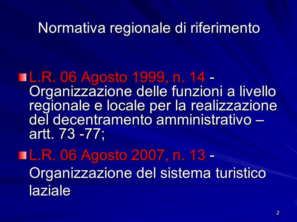 Normativa regionale di riferimento