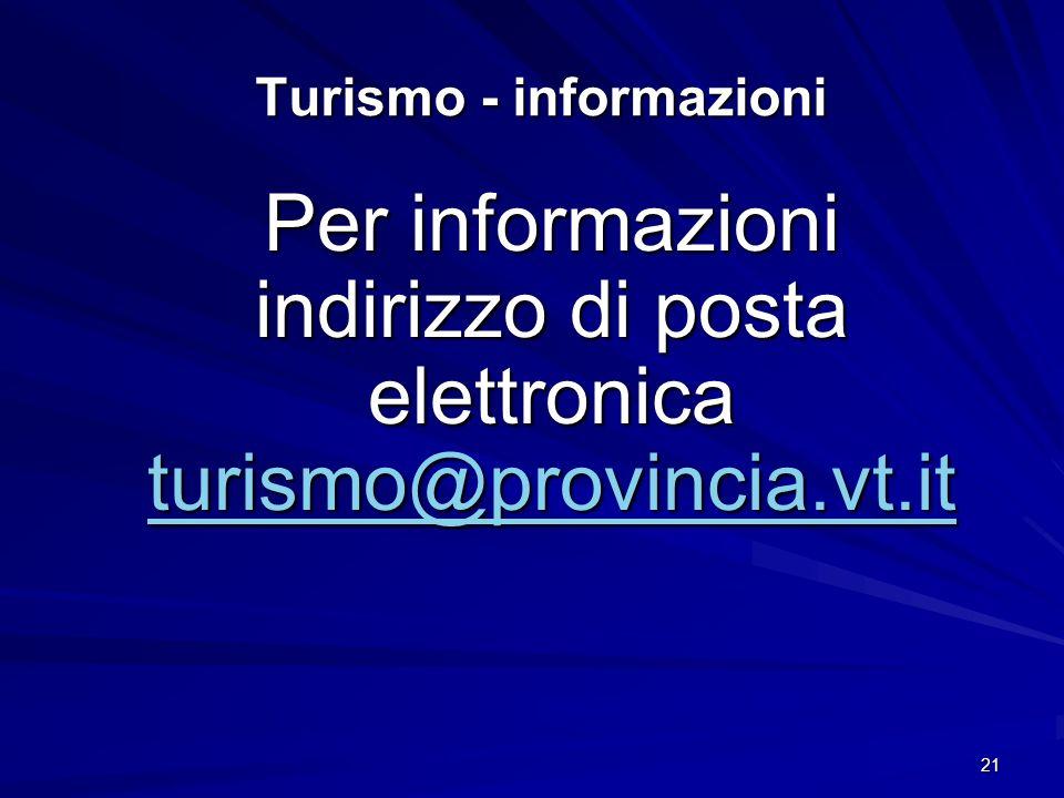 Turismo - informazioni