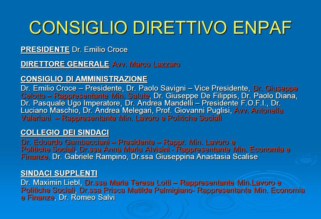 CONSIGLIO DIRETTIVO ENPAF