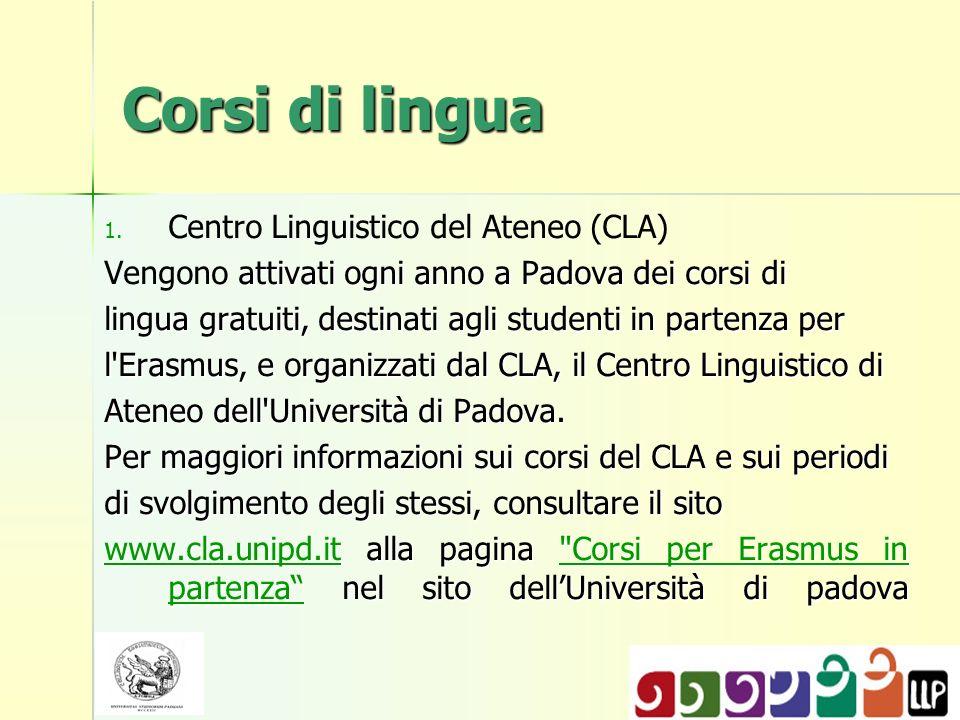 Corsi di lingua Centro Linguistico del Ateneo (CLA)