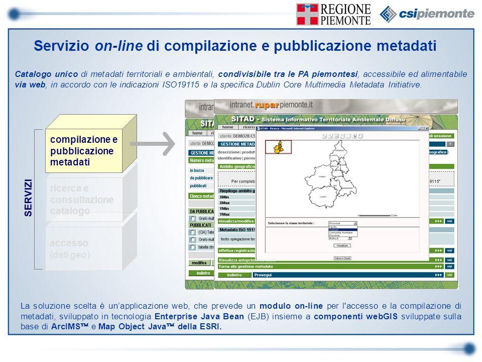 Servizio on-line di compilazione e pubblicazione metadati