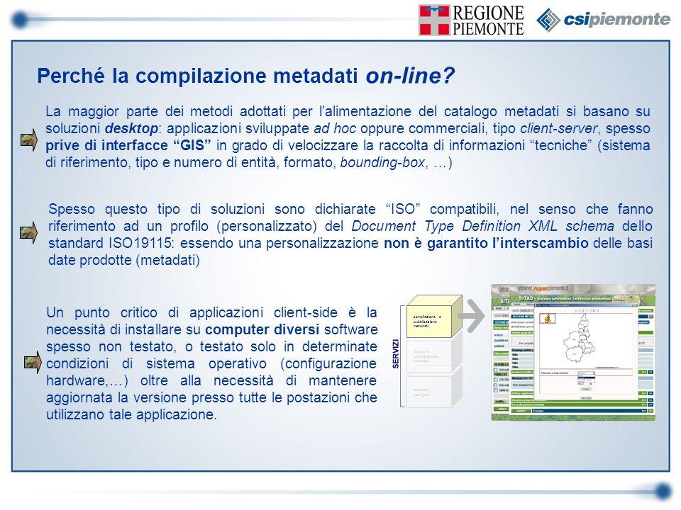 Perché la compilazione metadati on-line