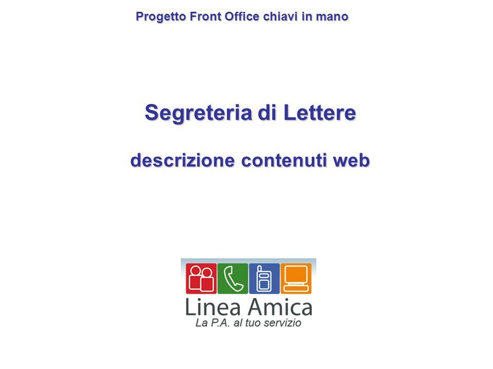 Segreteria di Lettere descrizione contenuti web