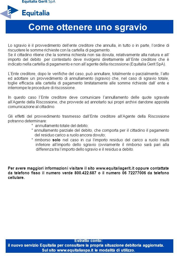 Sul sito www.equitaliaspa.it le modalità di utilizzo.