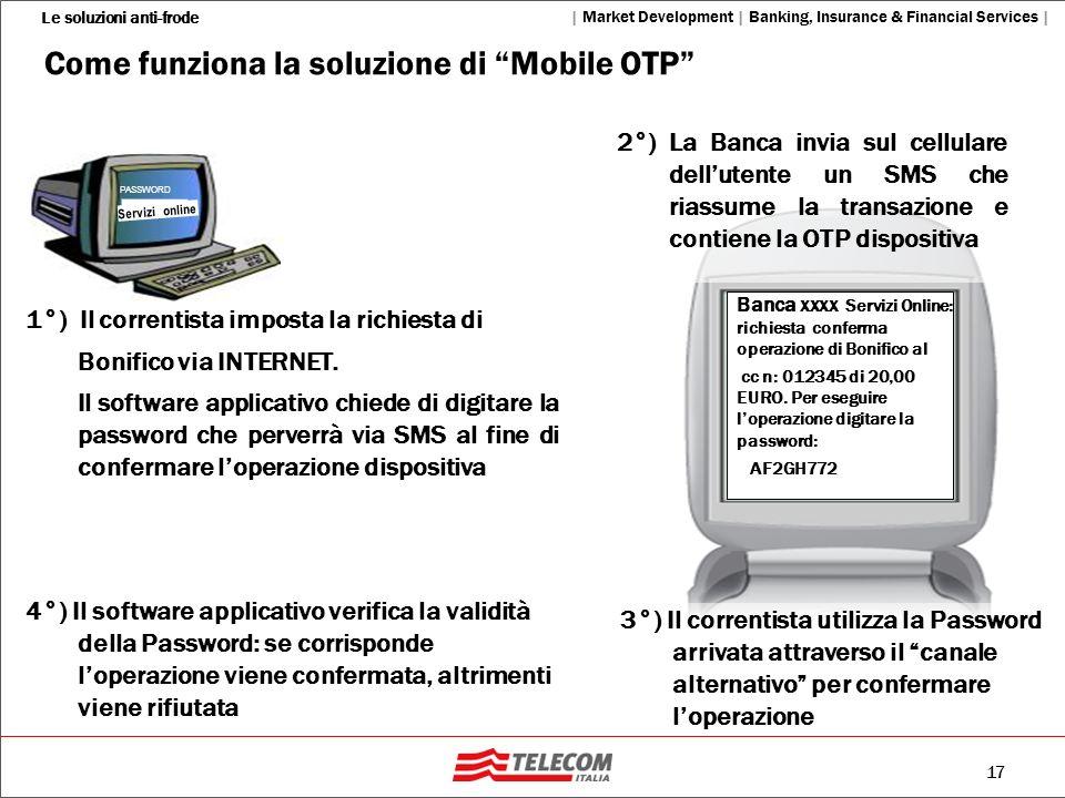 Come funziona la soluzione di Mobile OTP