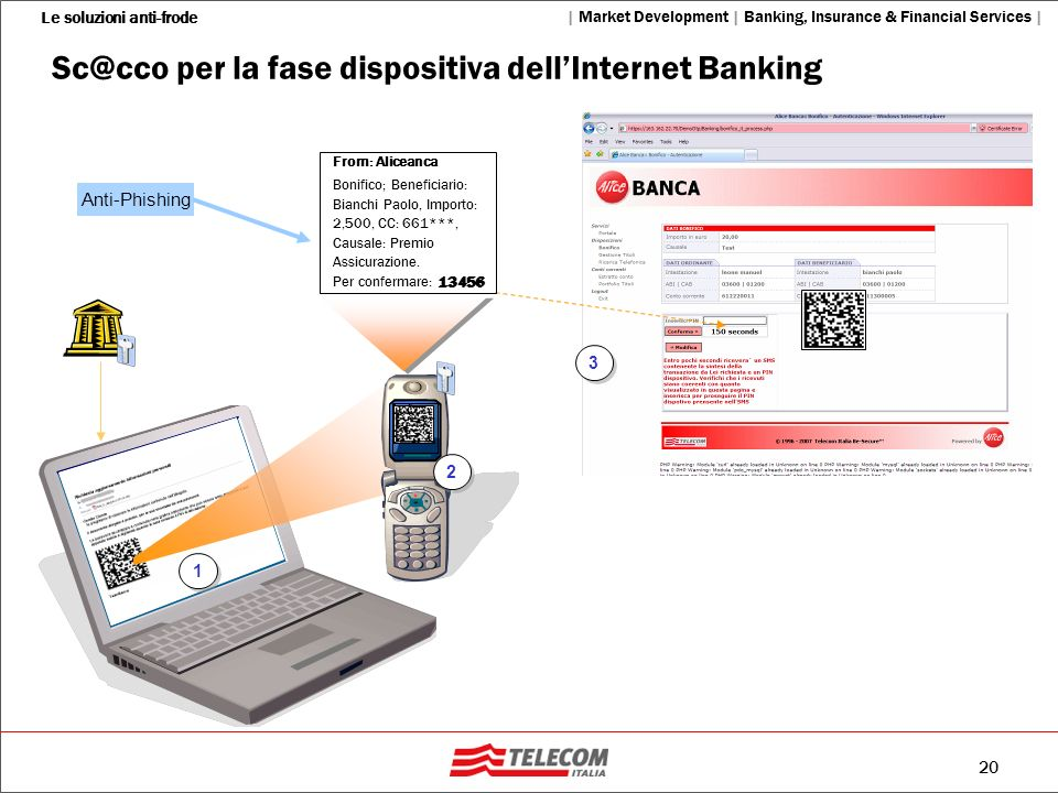 per la fase dispositiva dell'Internet Banking