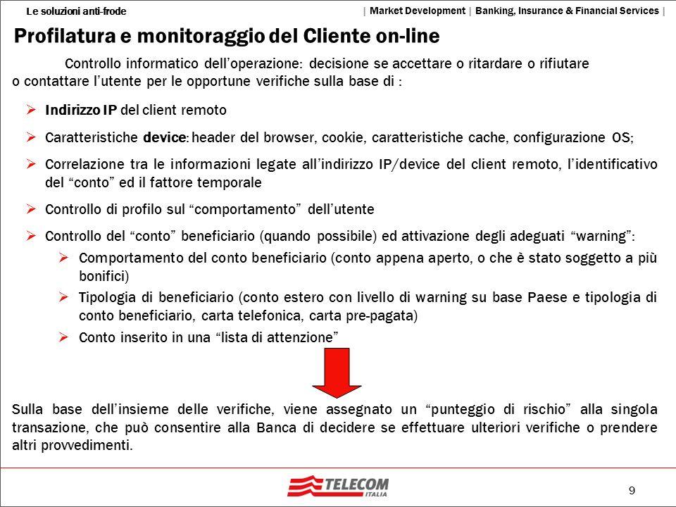 Profilatura e monitoraggio del Cliente on-line