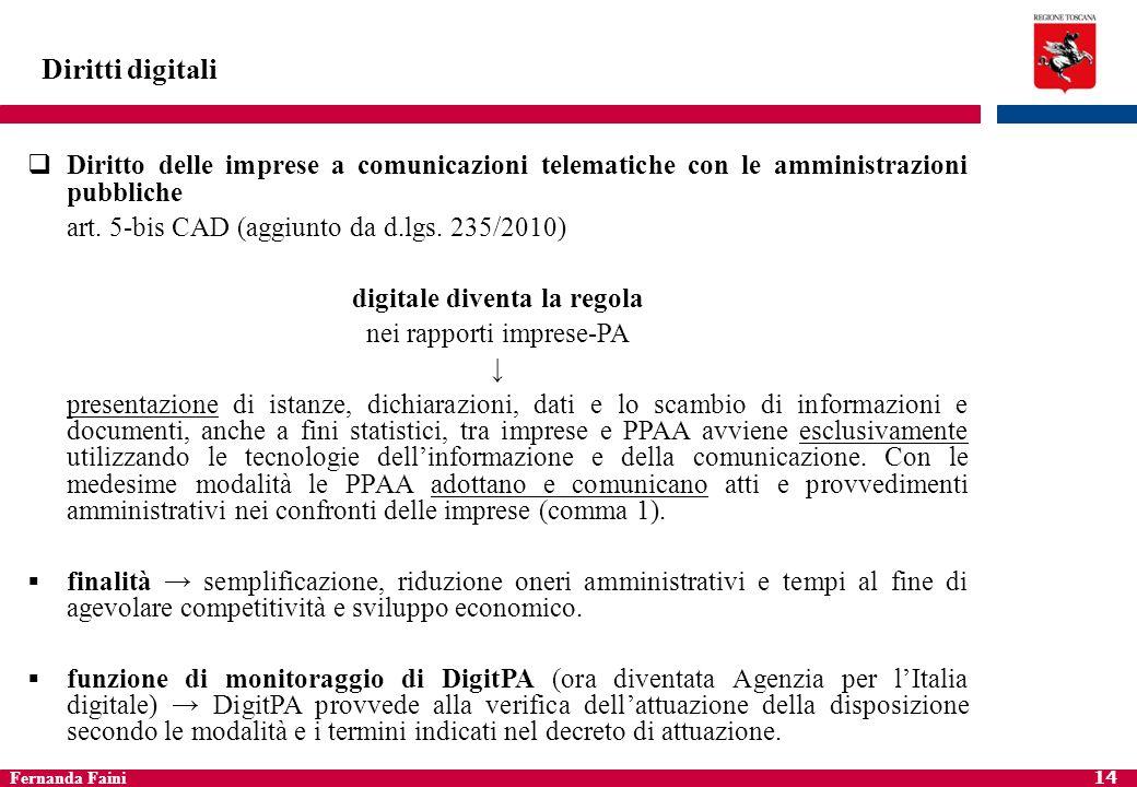 Diritti digitali Diritto delle imprese a comunicazioni telematiche con le amministrazioni pubbliche.