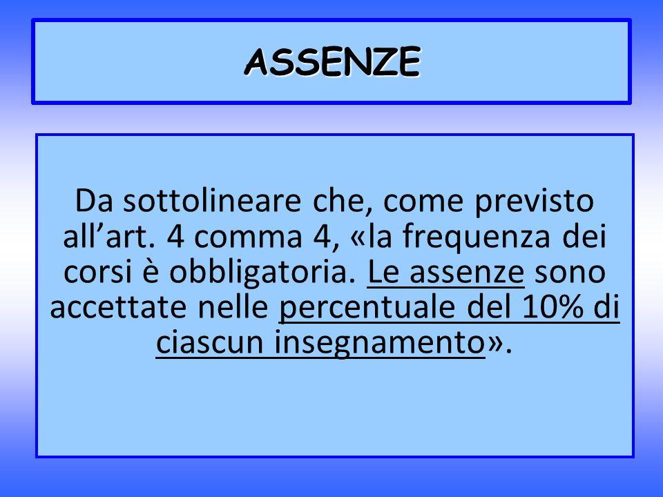 ASSENZE