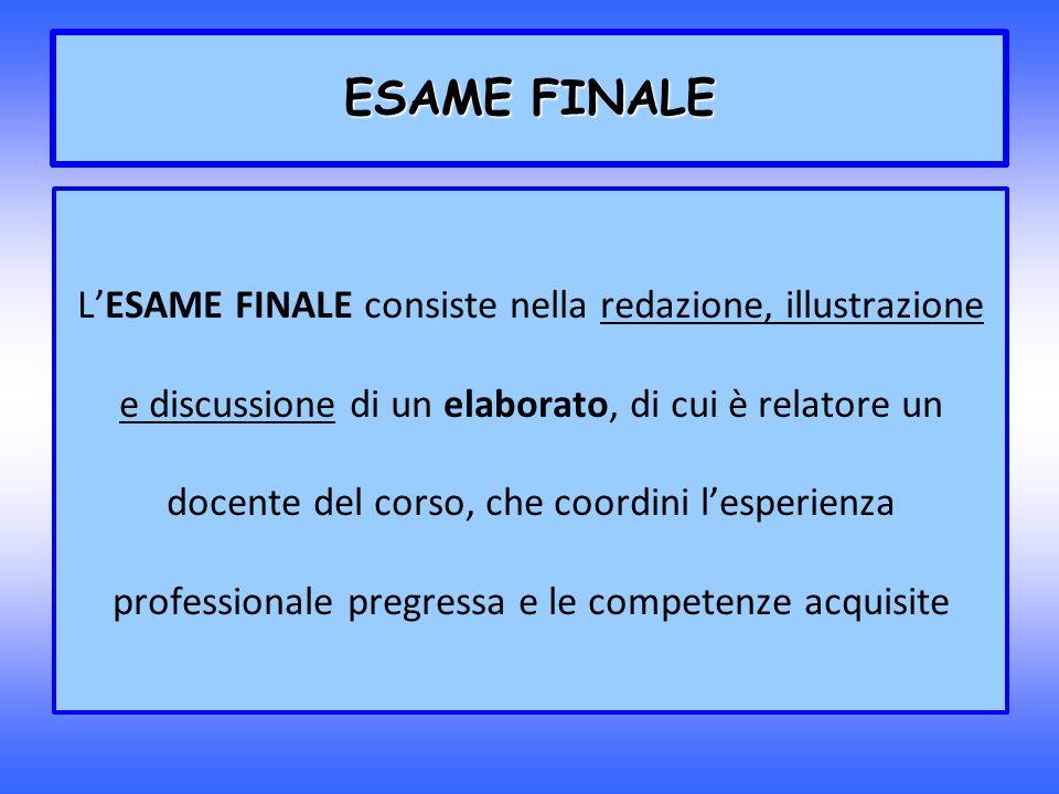ESAME FINALE