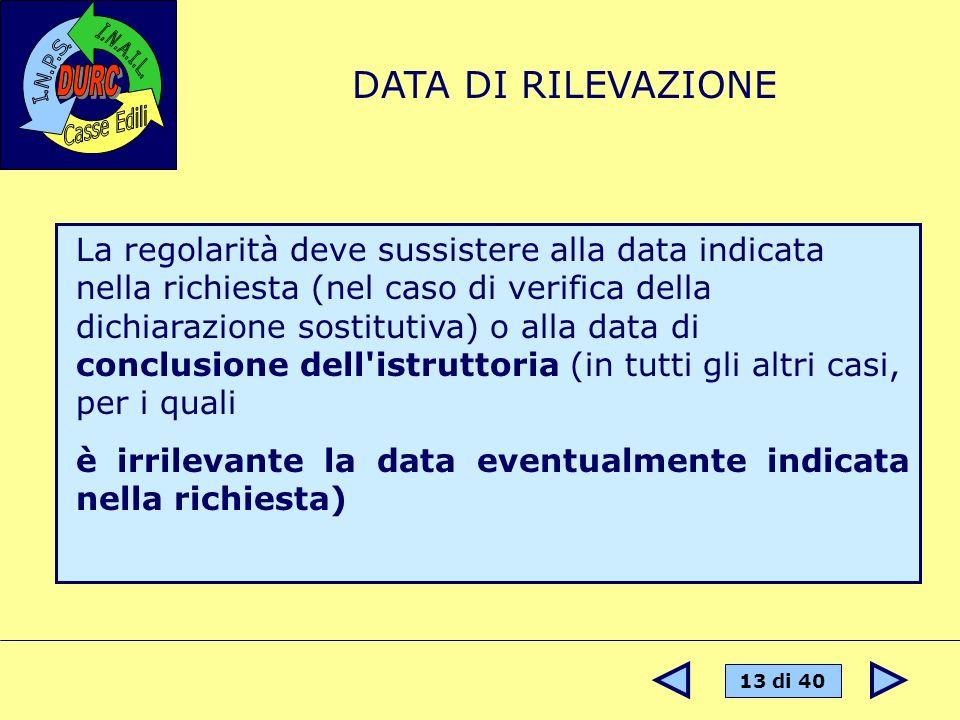 DATA DI RILEVAZIONE