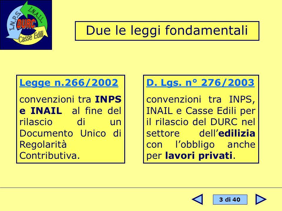 Due le leggi fondamentali