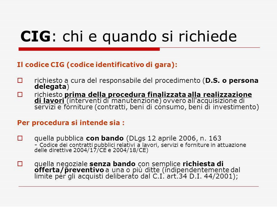 CIG: chi e quando si richiede