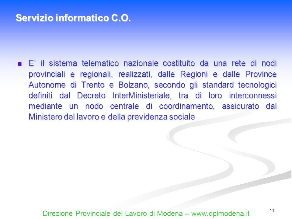 Servizio informatico C.O.