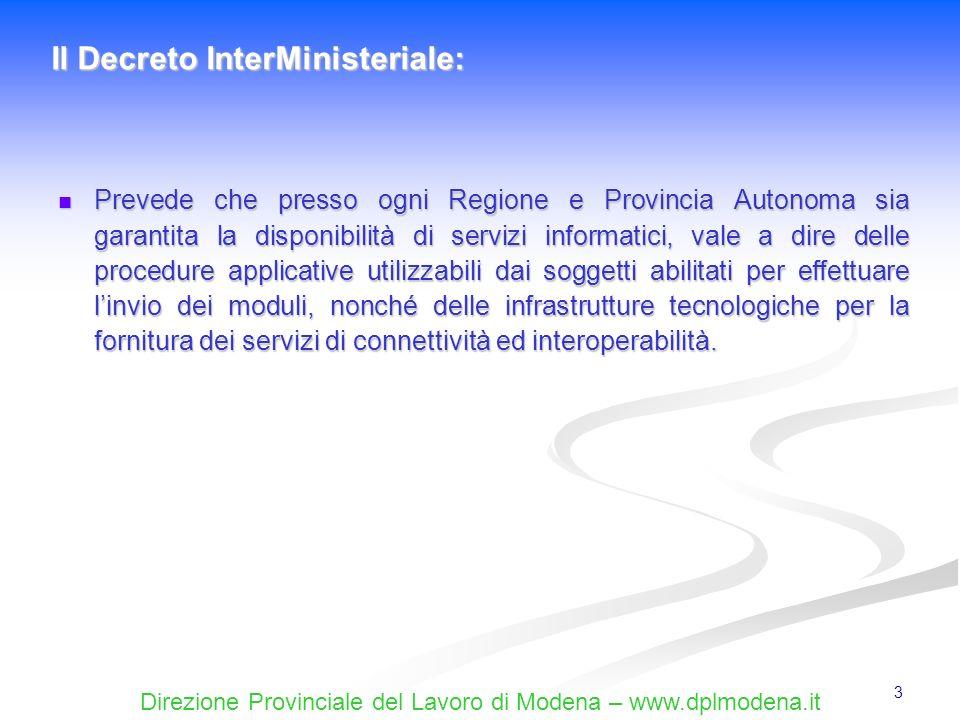 Il Decreto InterMinisteriale: