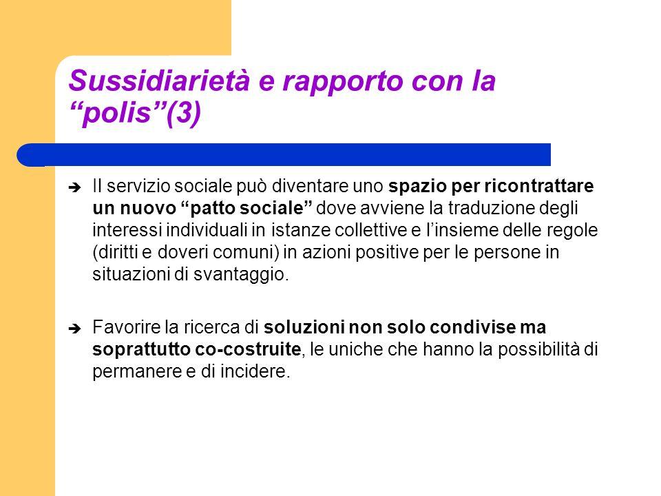 Sussidiarietà e rapporto con la polis (3)