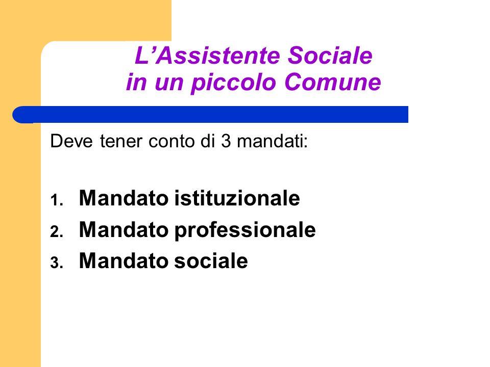 L'Assistente Sociale in un piccolo Comune