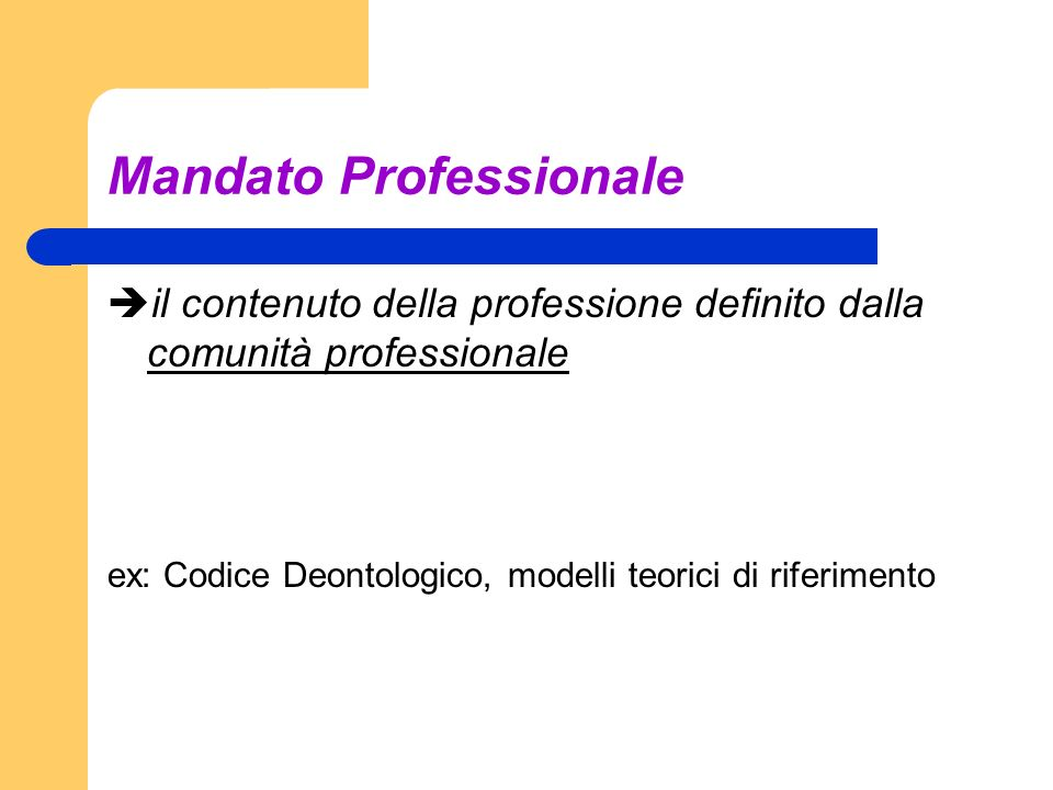 Mandato Professionale