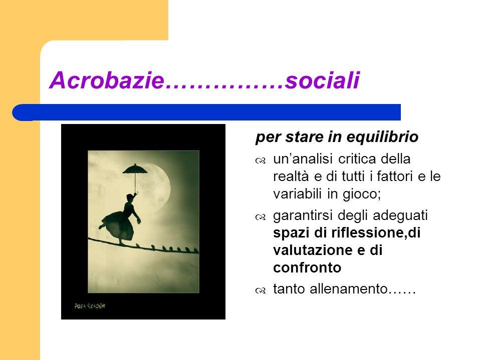 Acrobazie……………sociali