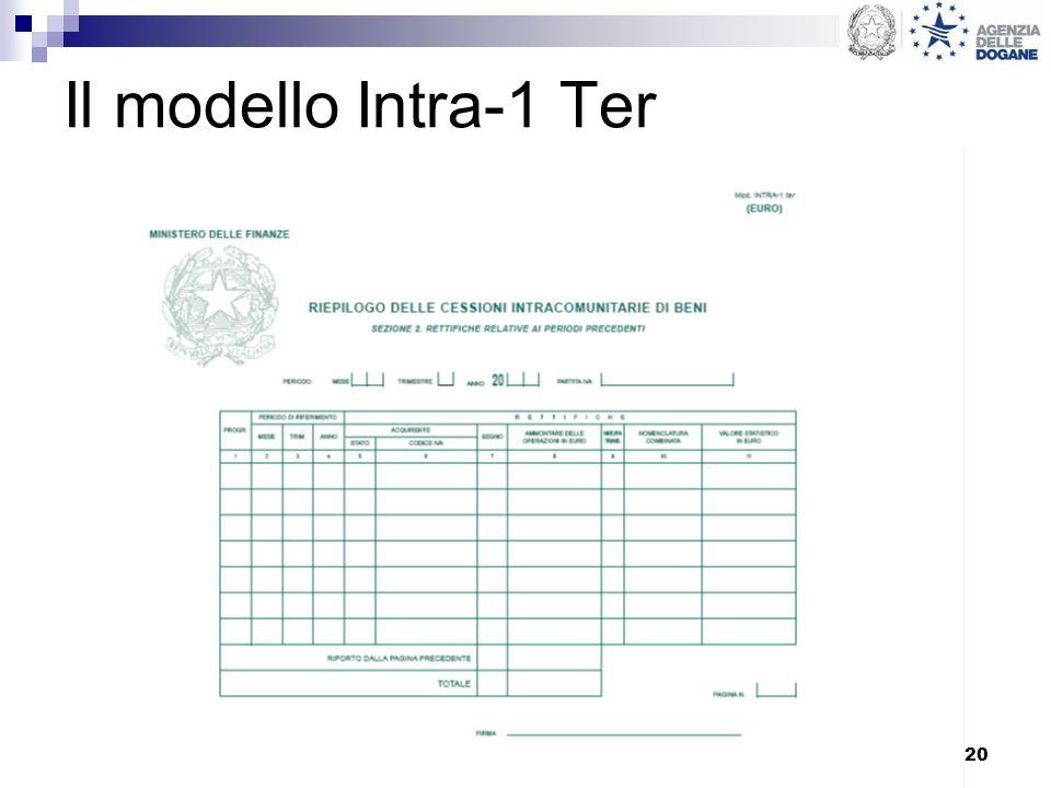 Il modello Intra-1 Ter