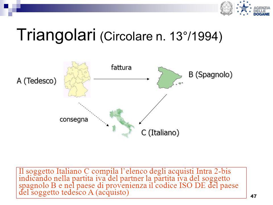 Triangolari (Circolare n. 13°/1994)