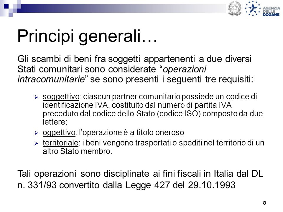 Principi generali…