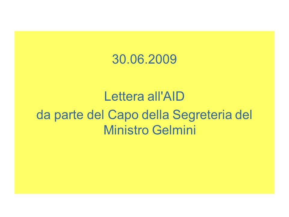 da parte del Capo della Segreteria del Ministro Gelmini