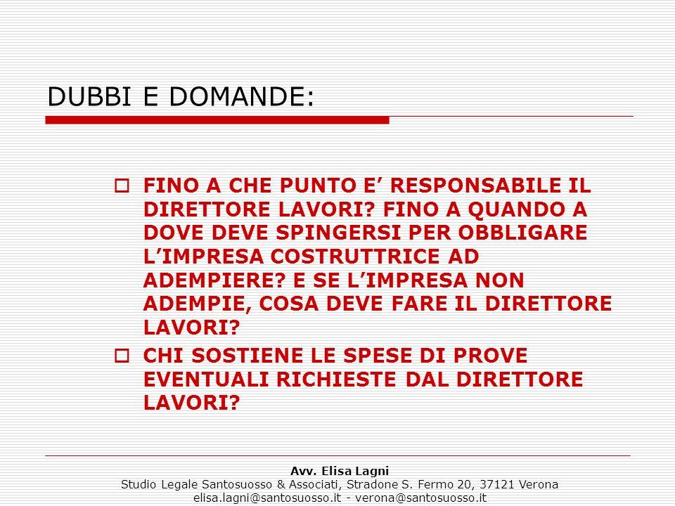 DUBBI E DOMANDE: