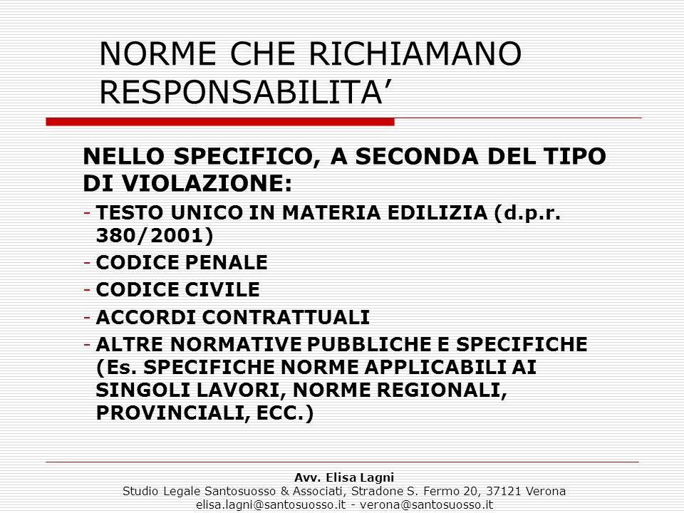 NORME CHE RICHIAMANO RESPONSABILITA'