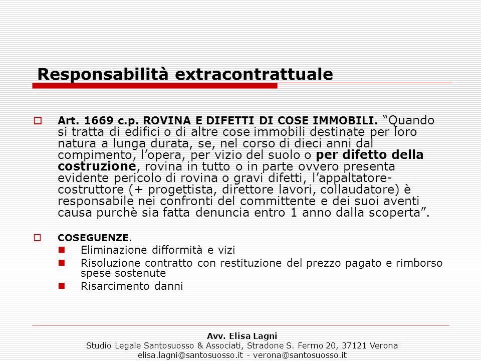 Responsabilità extracontrattuale