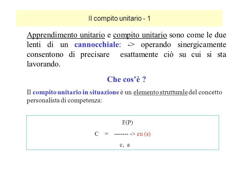 Il compito unitario - 1