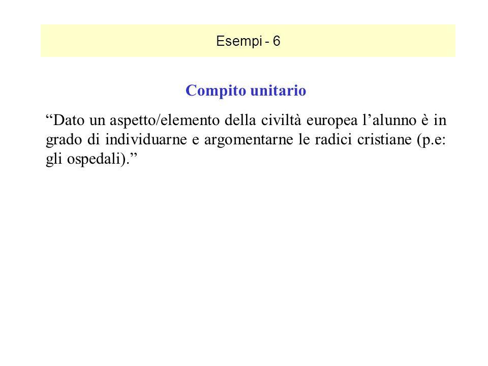 Esempi - 6 Compito unitario.