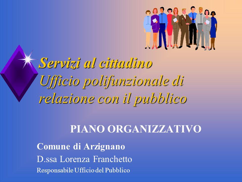 Servizi al cittadino Ufficio polifunzionale di relazione con il pubblico
