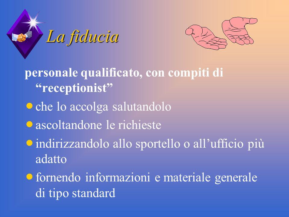 La fiducia personale qualificato, con compiti di receptionist