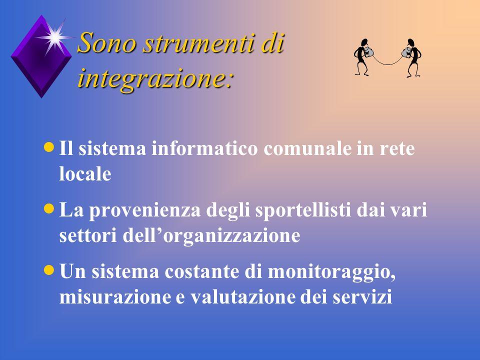 Sono strumenti di integrazione: