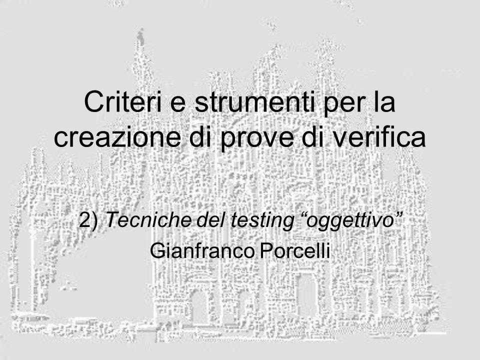 Criteri e strumenti per la creazione di prove di verifica