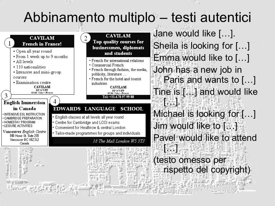 Abbinamento multiplo – testi autentici