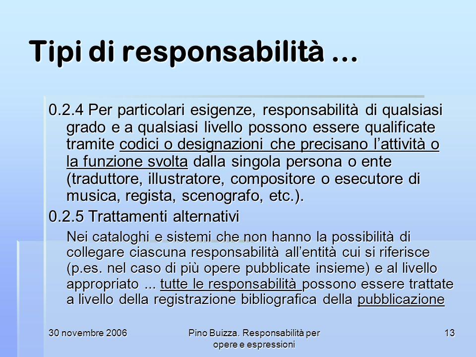 Tipi di responsabilità ...