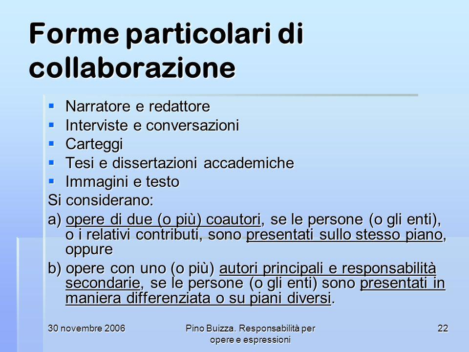 Forme particolari di collaborazione