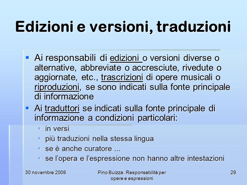 Edizioni e versioni, traduzioni