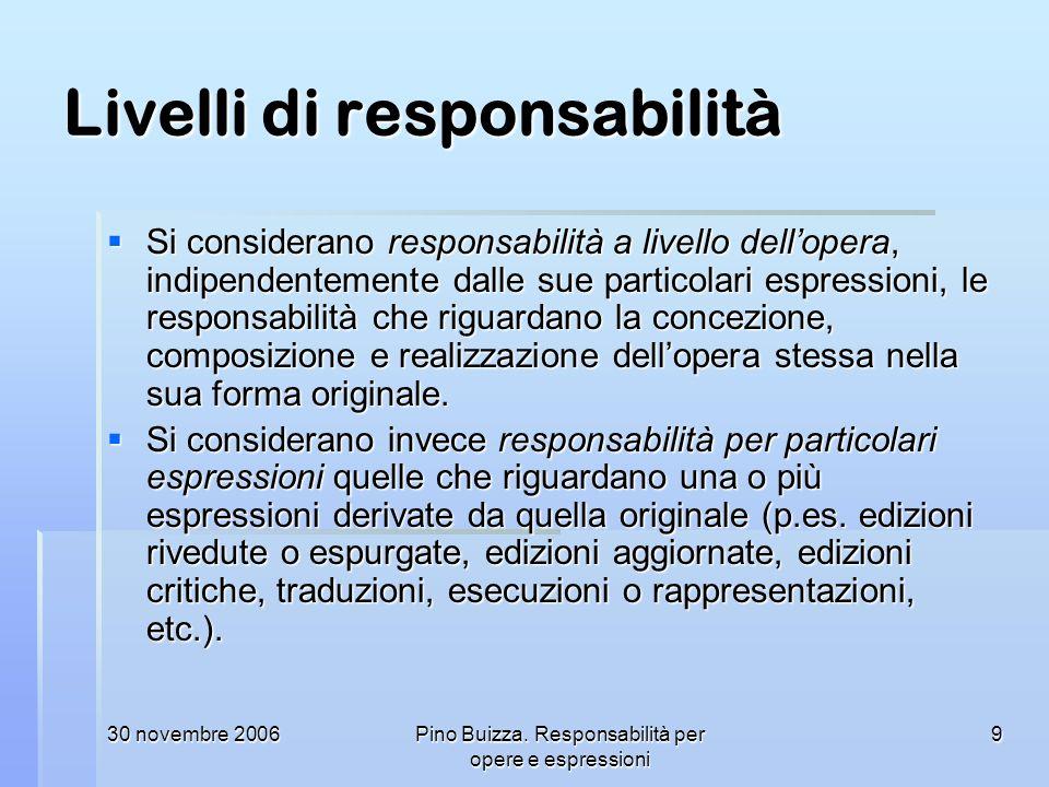 Livelli di responsabilità