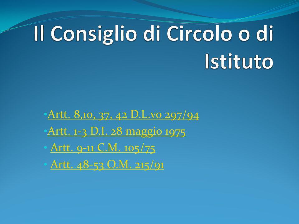 Il Consiglio di Circolo o di Istituto