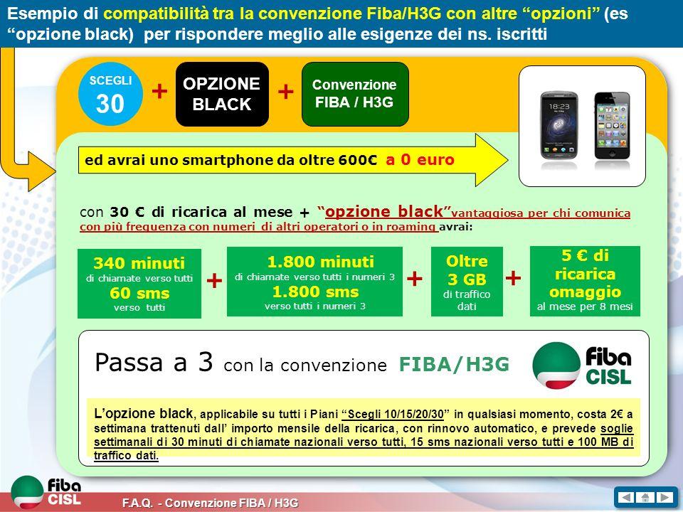 30 Passa a 3 con la convenzione FIBA/H3G +
