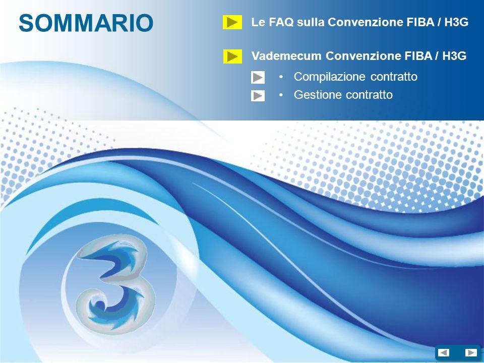 SOMMARIO Le FAQ sulla Convenzione FIBA / H3G