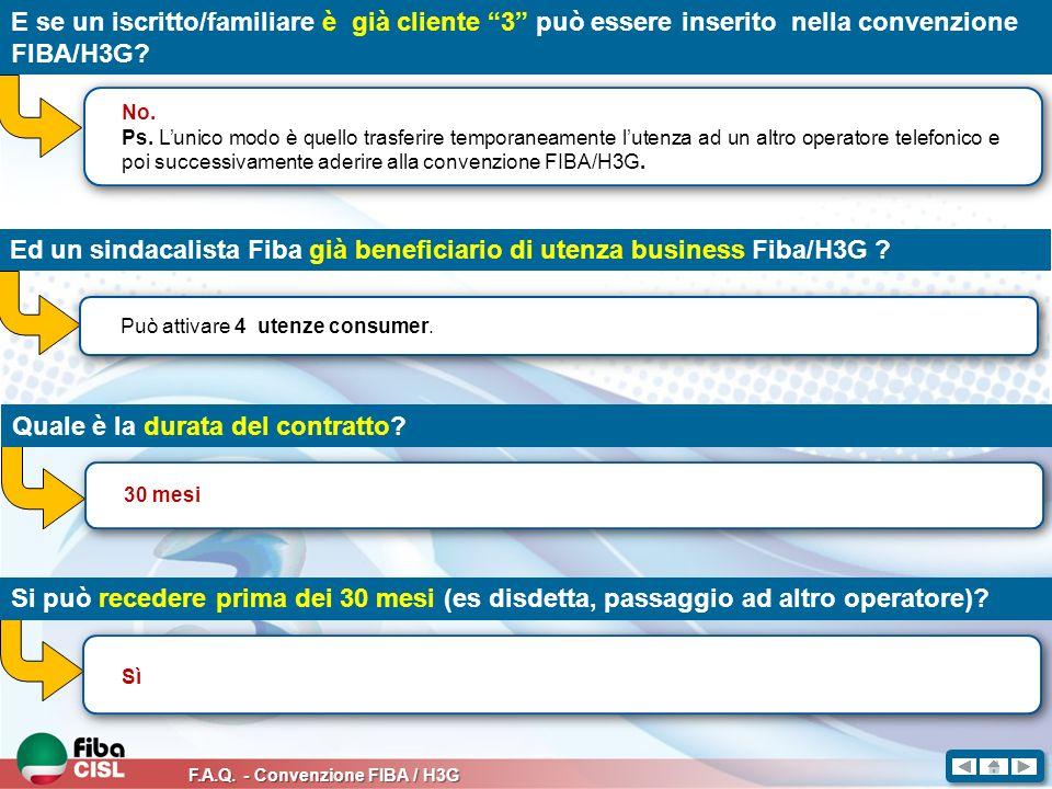 Ed un sindacalista Fiba già beneficiario di utenza business Fiba/H3G