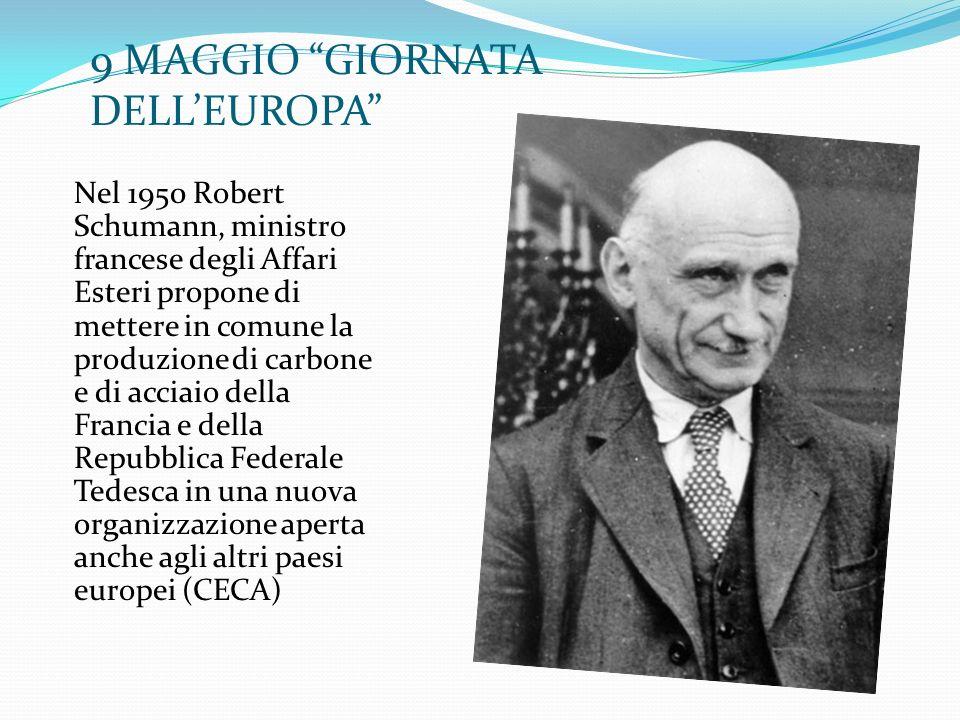 9 MAGGIO GIORNATA DELL'EUROPA